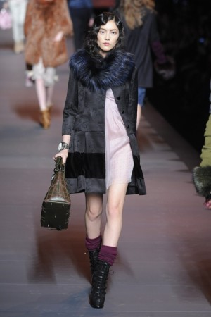 A look from Dior's fall-winter runway.