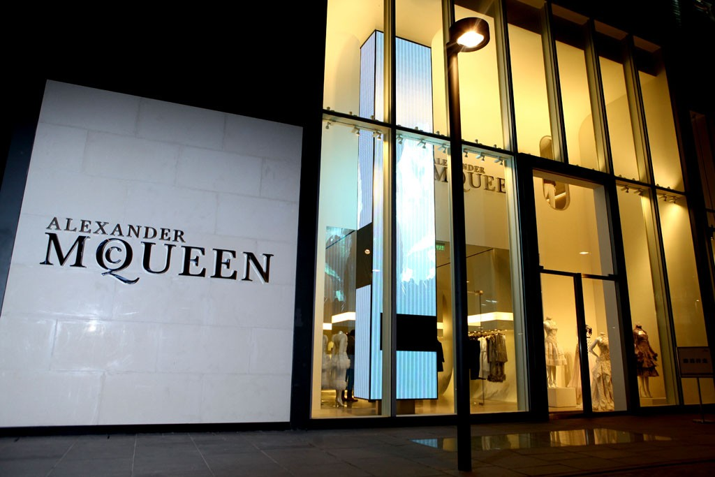 A view of the Alexander McQueen store in Beijing.
