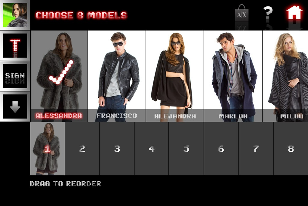 A look of the new A/X Armani Exchange interactive video app.