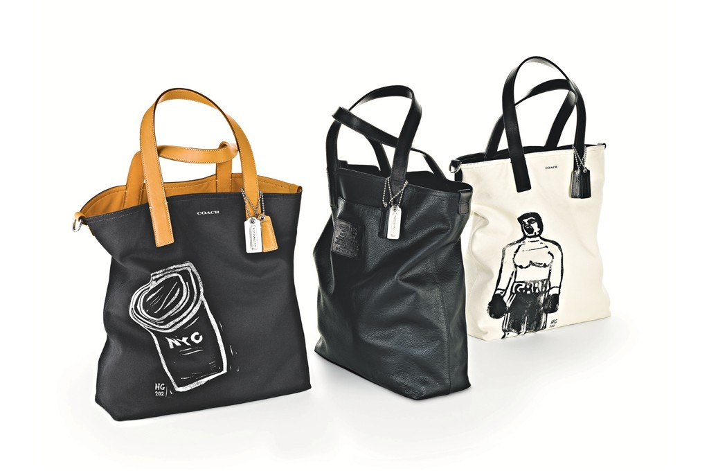 Tote bags from the Hugo Guinness collaboration.