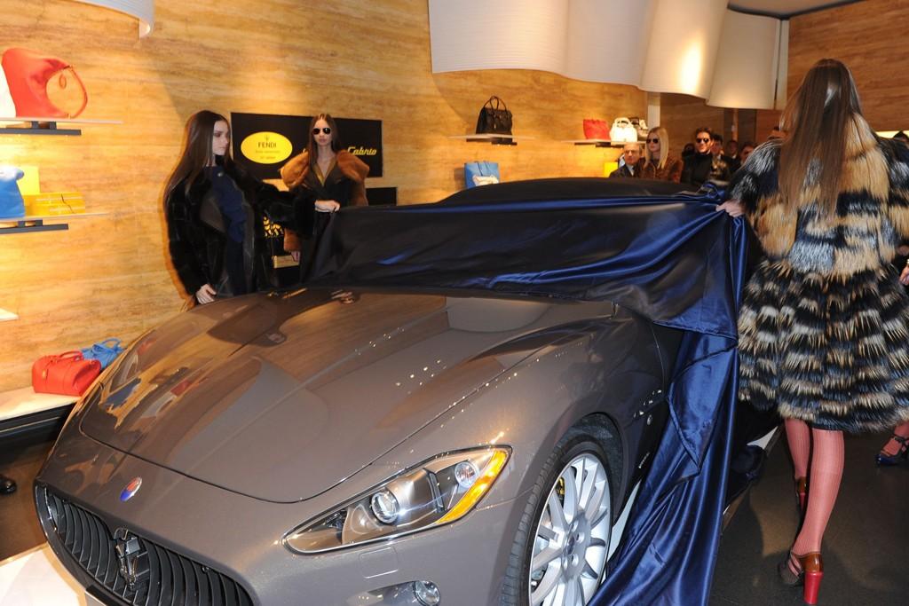 The unveiling of the Maserati GranCabrio Fendi