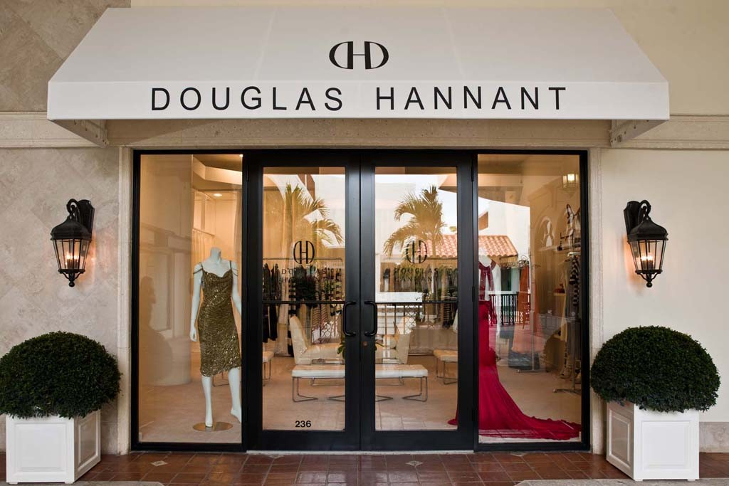 A view of the Douglas Hannant store in Palm Beach.