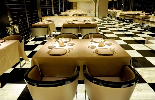 A view inside the Armani Hotel Milano.