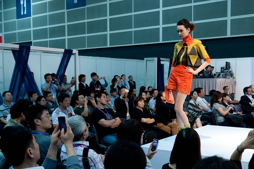 On the runway at Interstoff.