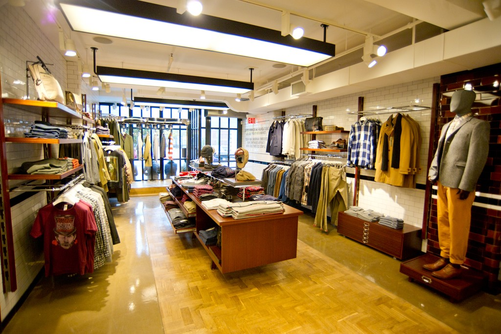 A view at the Ben Sherman store.