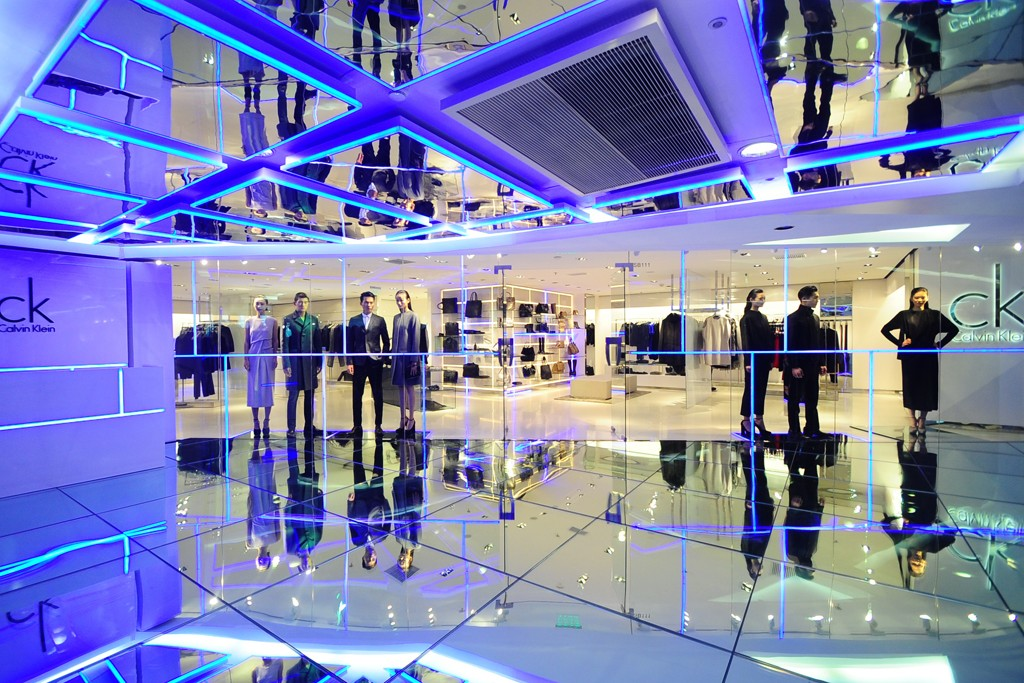 The renovated ck Calvin Klein store in Beijing.