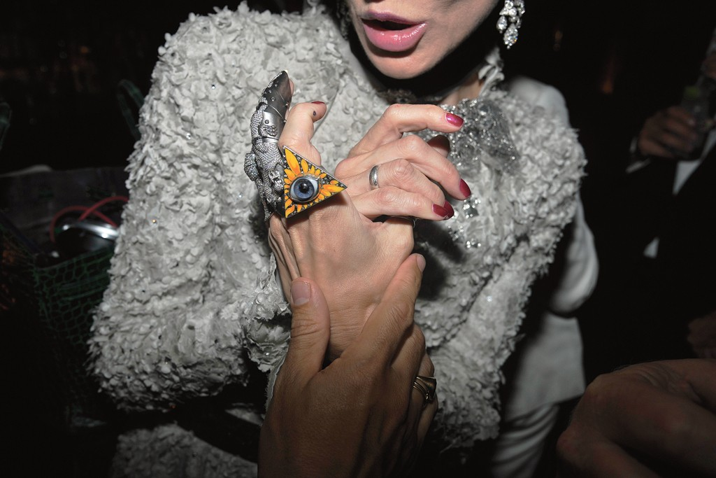 Daphne Guinness at the Purple magazine party in New York.