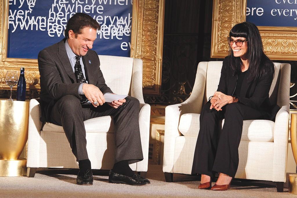 Norma Kamali and Peter Guber