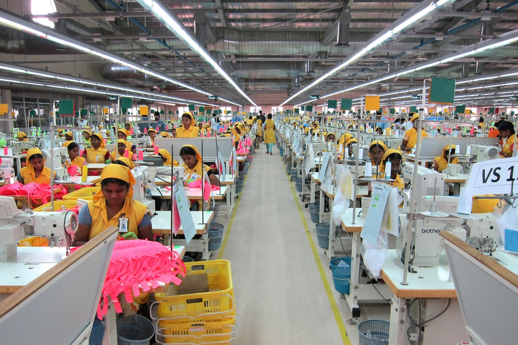An inside look at the factory in India.