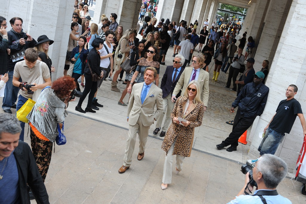 Valentino's entrance at DVF.