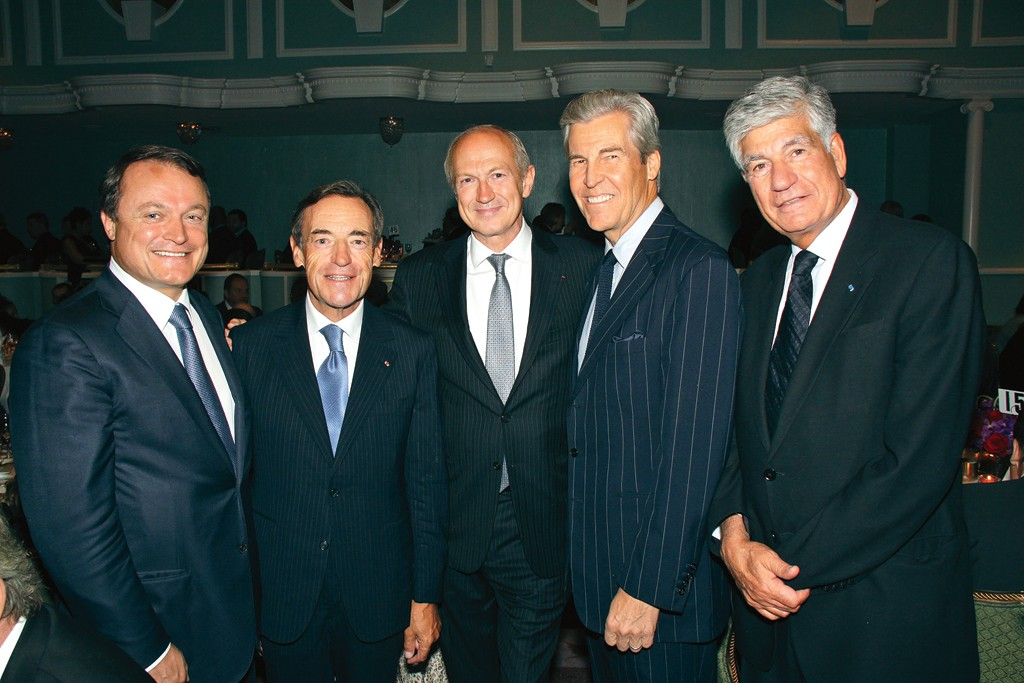 Frederic Roze, Lindsay Owen-Jones, Jean-Paul Agon, Terry Lundgren and Maurice Levy.