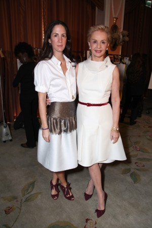 Patricia Lansing and Carolina Herrera