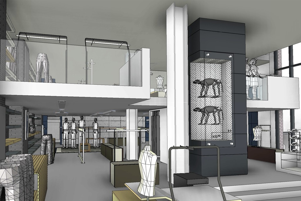 A rendering of G-Star's Rodeo Drive store.