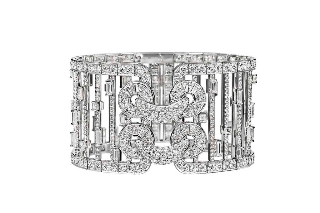 Harry Winston's diamond bracelet inspired by Qipao, the Chinese study of form.