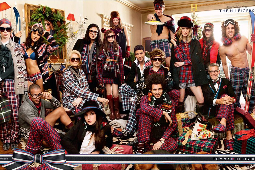 A print ad from Hilfiger's holiday campaign.