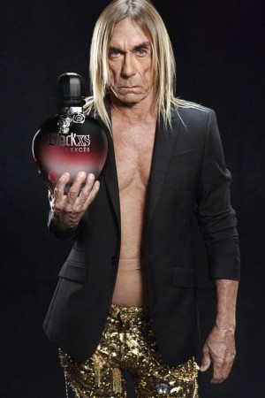 Iggy Pop with the Black XS L'Excès bottle.