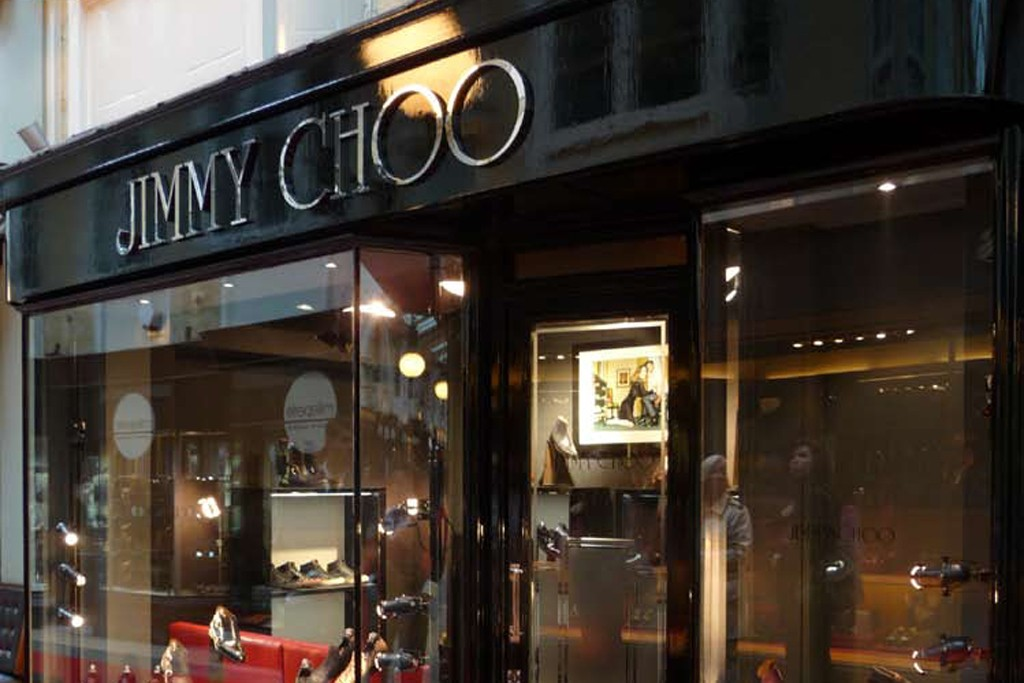 A view of the Jimmy Choo men's store in London.