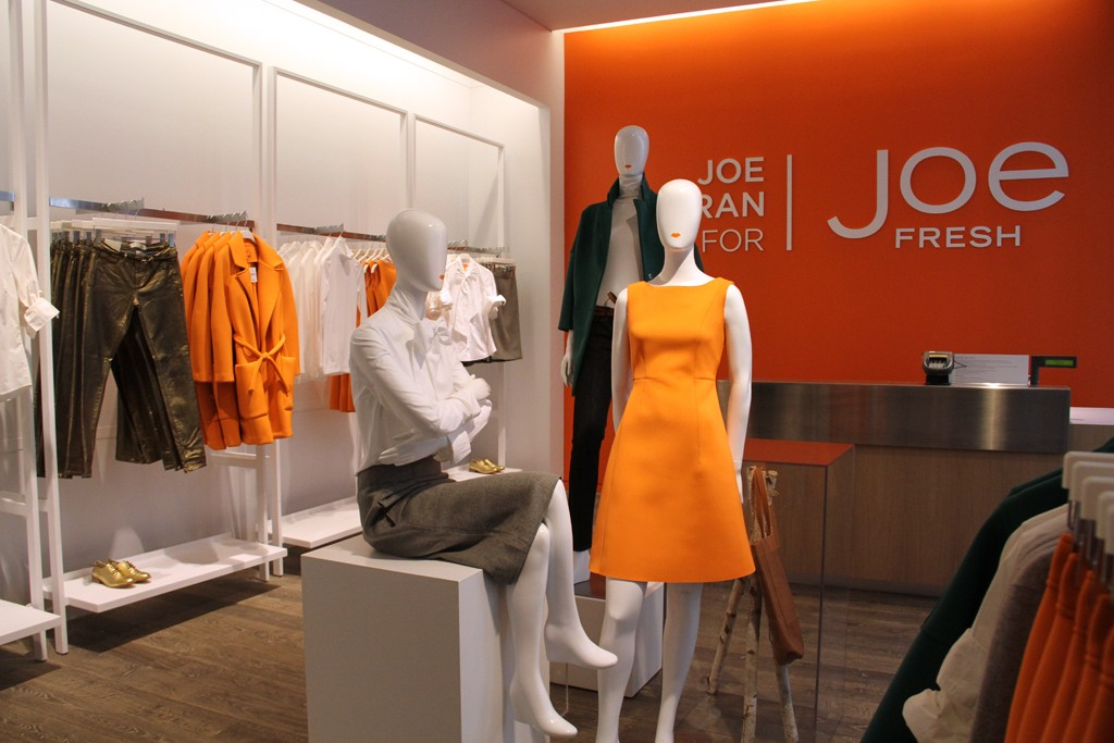 A view of the Joe Fresh store.