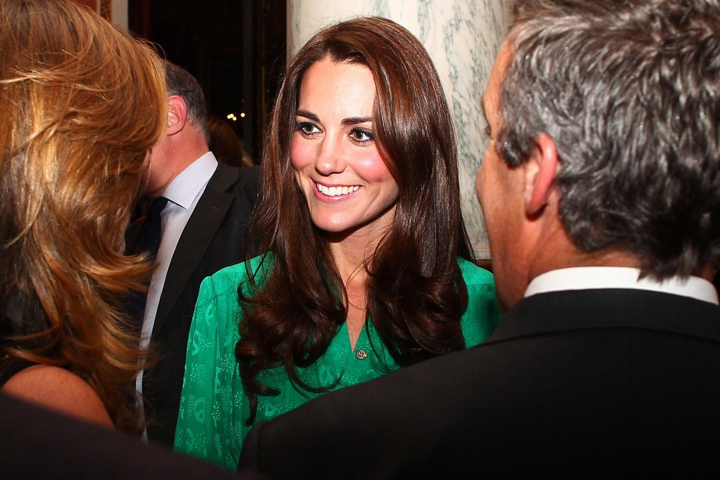 The Duchess of Cambridge in Mulberry.