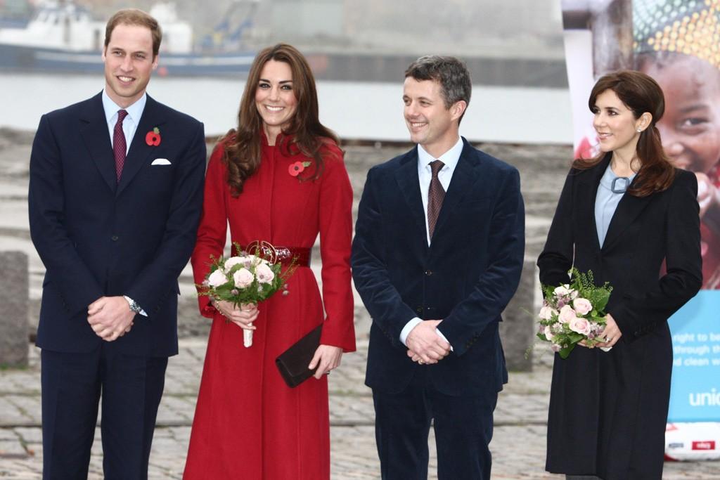 The Duke and Duchess of Cambridge arrive in Copenhagen.