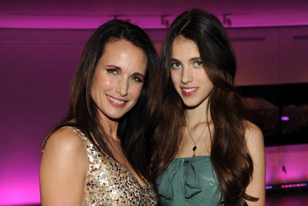 Andie MacDowell and Sarah Margaret Qualley