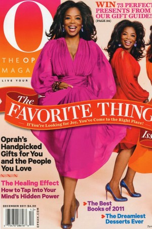 The December cover of Oprah.