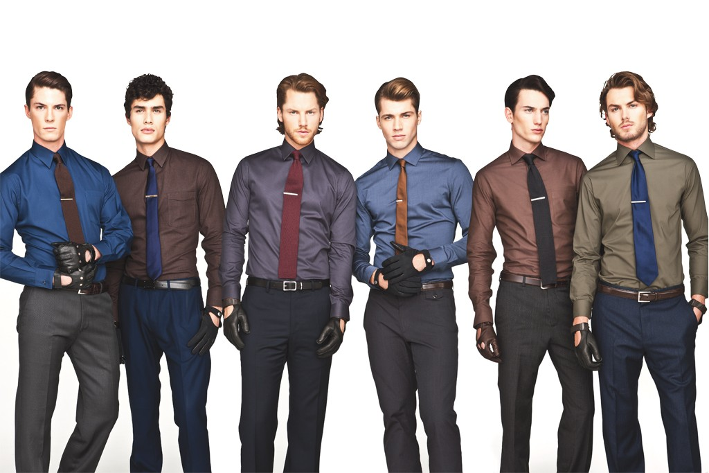 An array of rich and saturated dark tones is the trend dominating the dress shirt market for spring.
