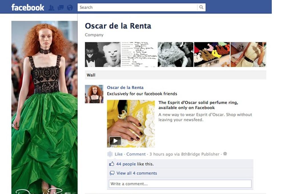 Oscar de la Renta's Facebook page.