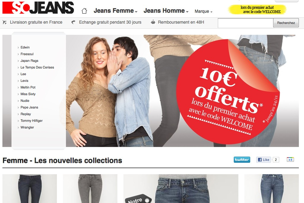 The Sojeans web site.