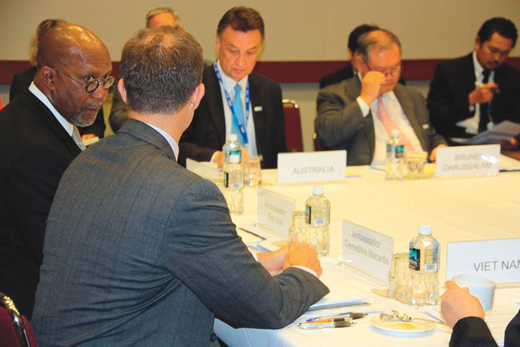 USTR Ron Kirk discusses the Trans-Pacific Partnership with trade ministers.