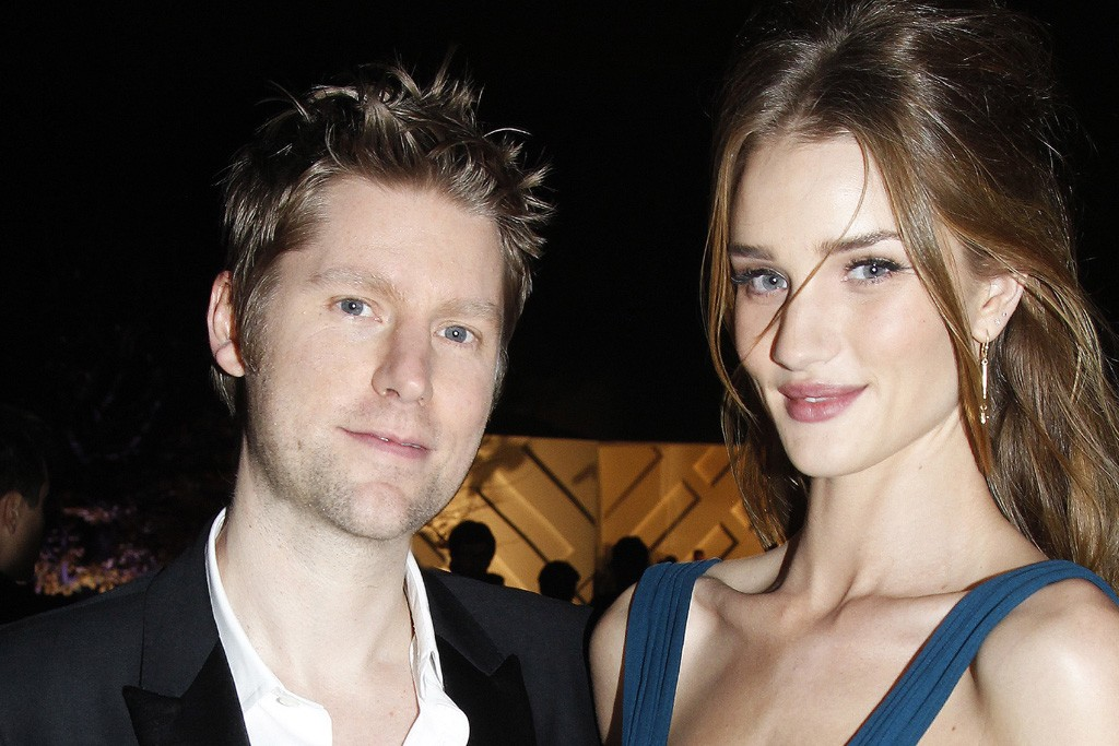 Christopher Bailey and Rosie Huntington-Whiteley.