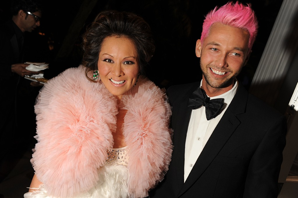 Alina Cho in CD Greene with Chris Benz