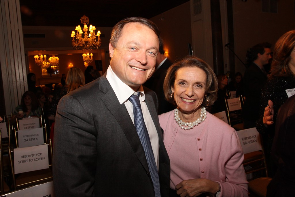 Frederic Rozé, president and chief executive officer of L'Oréal USA, and Carlotta Jacobson, president of CEW