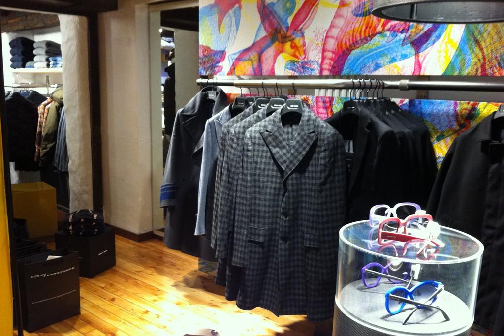Inside the Courmayeur store.