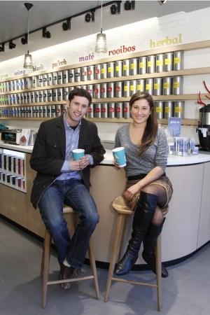 David and Sarah Segal at David's Tea.