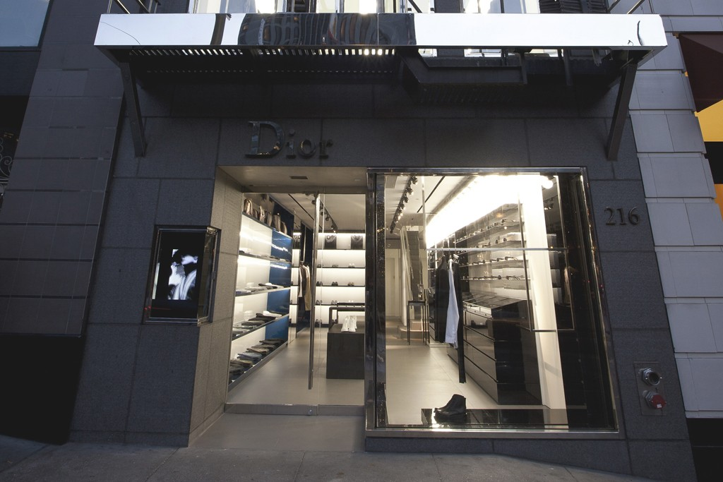 The exterior of the new Dior Homme store in San Francisco.