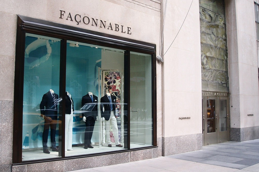 The Façonnable store in NYC.