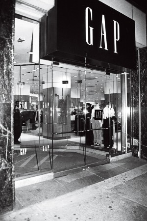 The exterior of a Gap store.