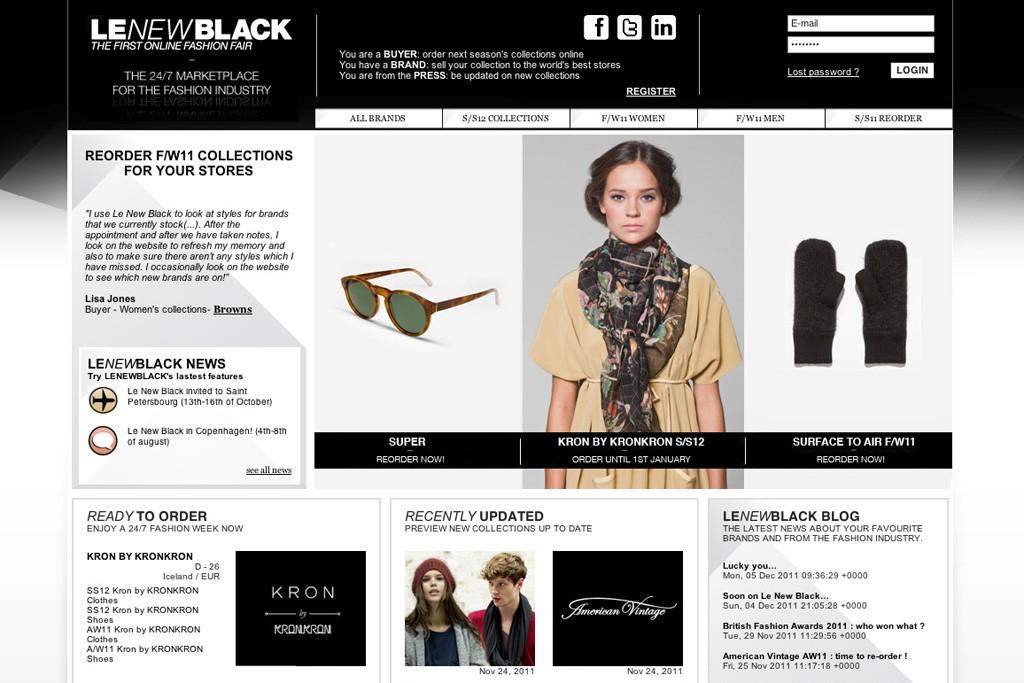 Le New Black's website