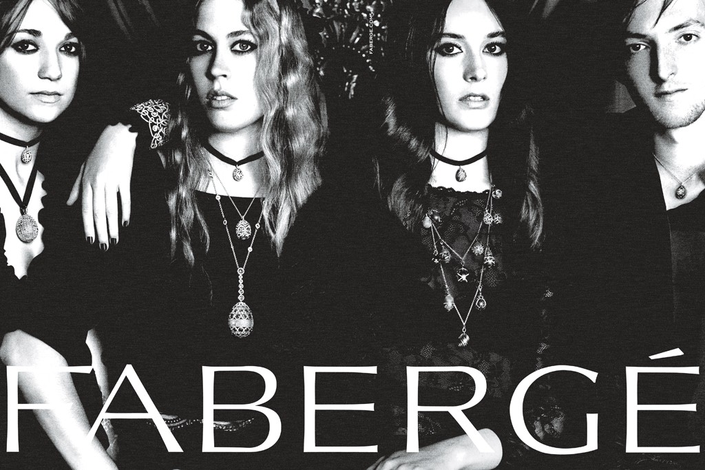 An image from the Fabergé ad campaign.