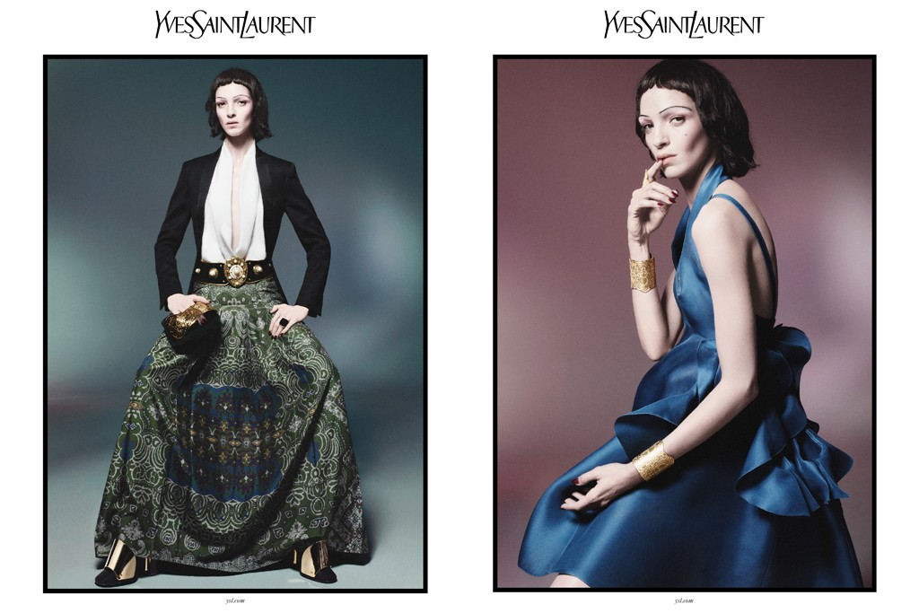 A viusal of the YSL S/S 2012 campaign shot by David Sims.