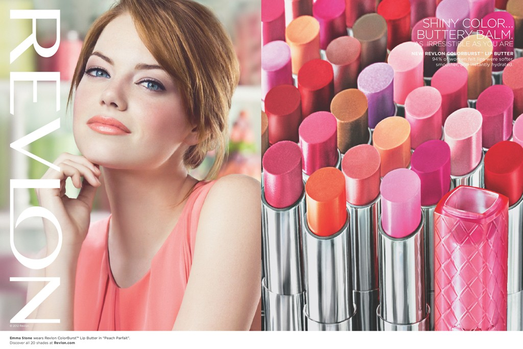 Emma Stone fronts Revlon Lip Butter.