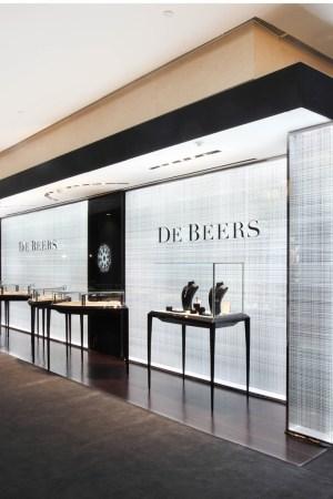 The De Beers store in Hong Kong.