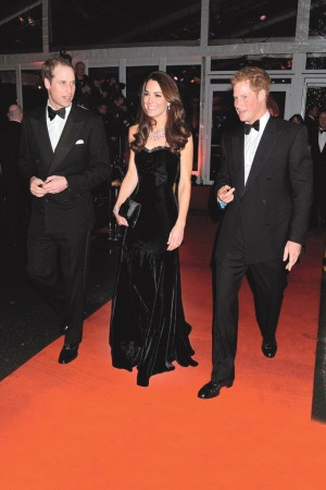 Prince Harry joined with the Duke and Duchess of Cambridge.