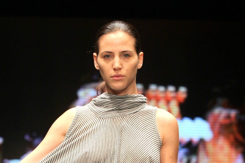 A look from Sasson Kedem's show during Tel Aviv Fashion Week.