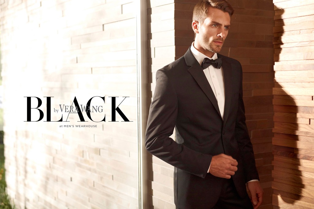 A tuxedo from Black by Vera Wang.
