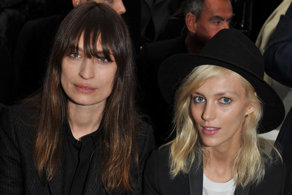 Caroline de Maigret and Anja Rubik