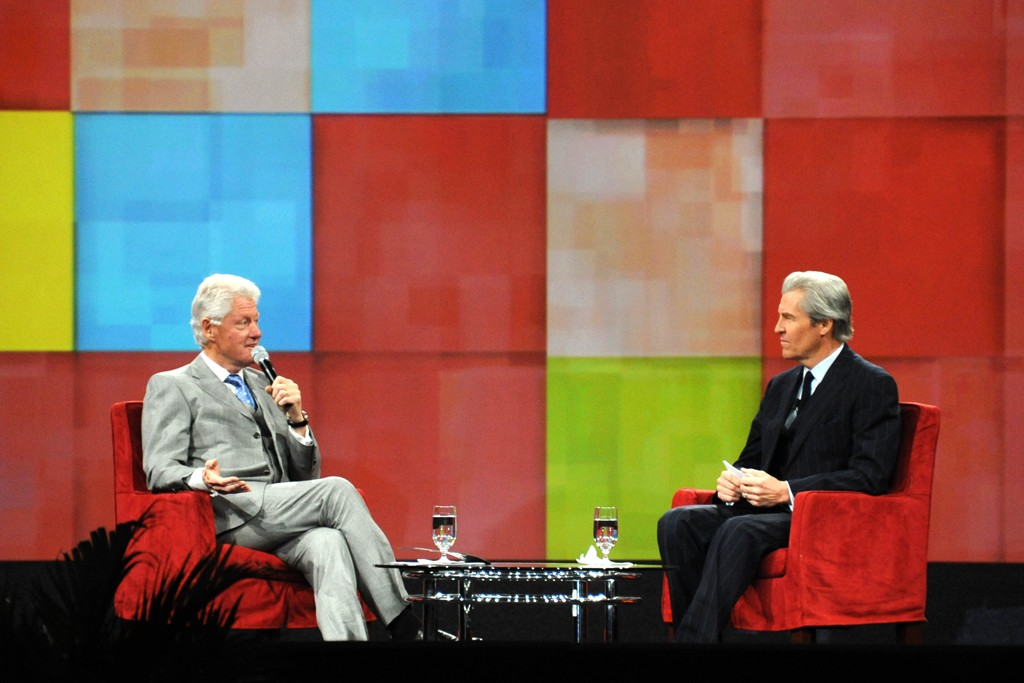 Bill Clinton and Terry J. Lundgren