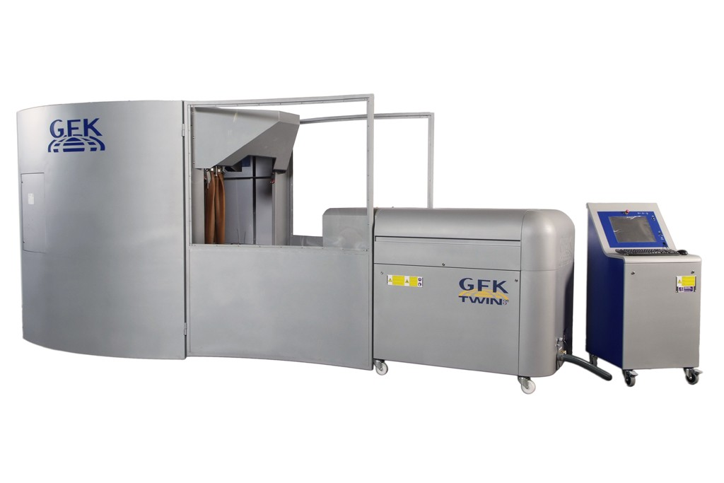 Jeanologia's Twin GFK 3e laser finishing machine.