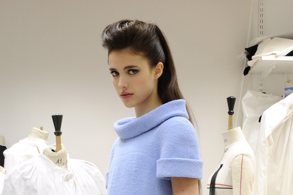 A model in the Chanel couture atelier.